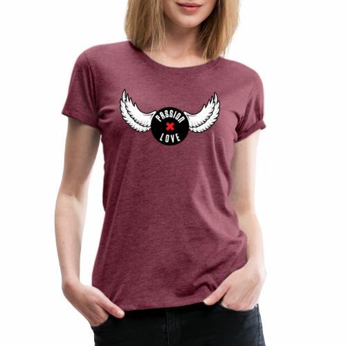 Passion x Love Black and white - Women's Premium T-Shirt