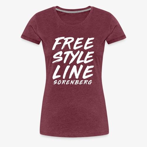 line brush white - Frauen Premium T-Shirt