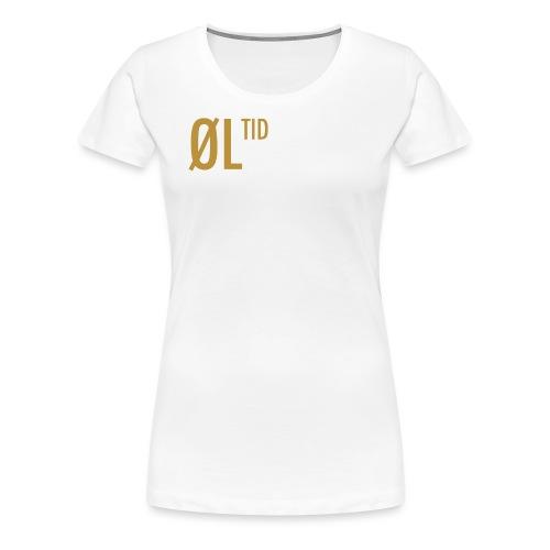 ØLTID ølbrygging hvit2 - Premium T-skjorte for kvinner