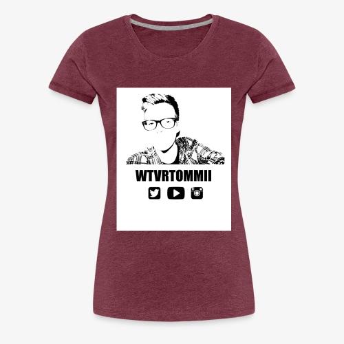 wtvrtommii logo - Women's Premium T-Shirt