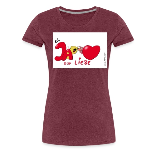 JAzurLiebe jpg - Frauen Premium T-Shirt