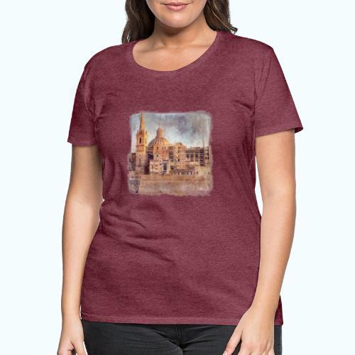 Valletta Malta Vintage Design - Women's Premium T-Shirt