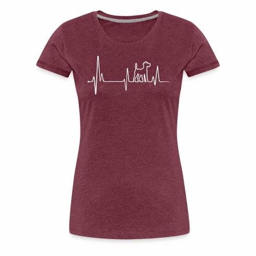 Irish Terrier Einkaufstasche mit Herz - Frauen Premium T-Shirt