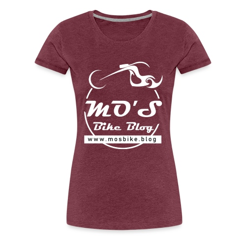 Mos Bike Blog Logo, weiß - Frauen Premium T-Shirt