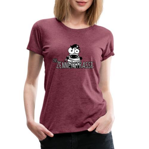 Zebra SW weiss - Frauen Premium T-Shirt