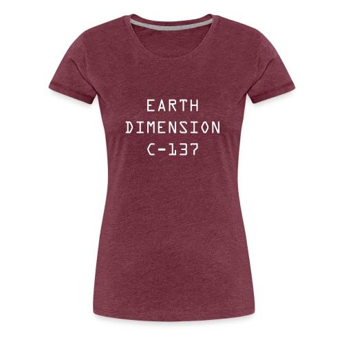 rick sanchez earth dimension c 137 - Women's Premium T-Shirt