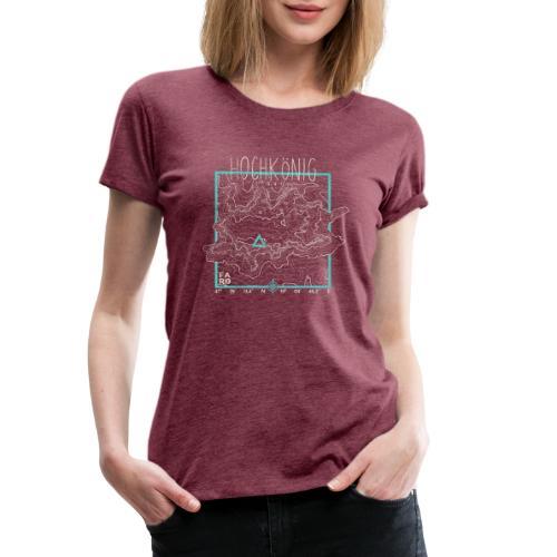 Hochkoenig Contour Lines - Square - Women's Premium T-Shirt
