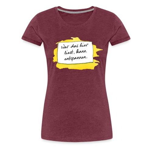 Janosch Wer Das Liest Spruch - Frauen Premium T-Shirt
