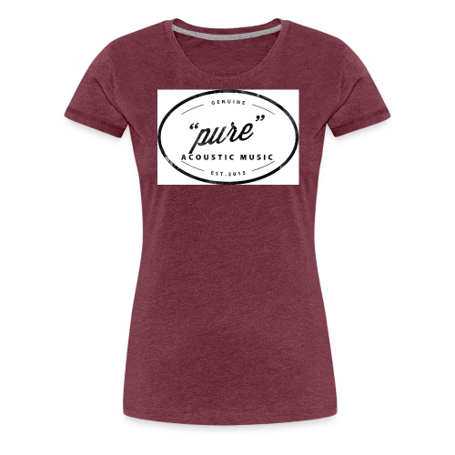 pure logo gross - Frauen Premium T-Shirt