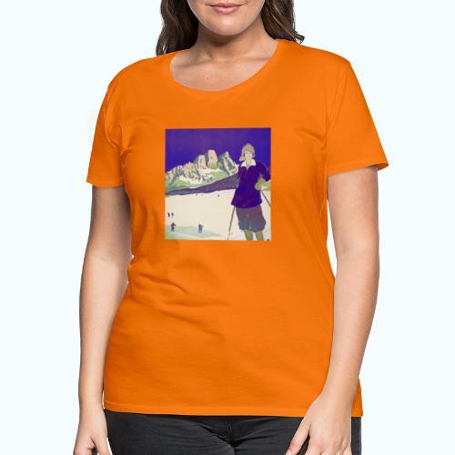 Ski trip vintage poster - Women's Premium T-Shirt