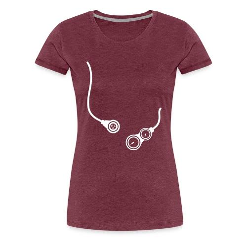 Voorkant logo - Vrouwen Premium T-shirt