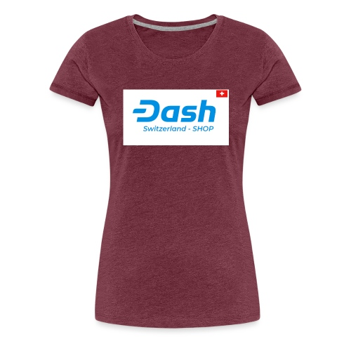 logo dash switzerland SHOP - Frauen Premium T-Shirt