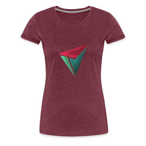 90gQopen T-Shirt   Logga Färg - Premium-T-shirt dam