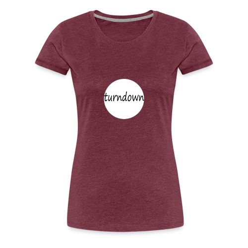 Turndown - Dame premium T-shirt