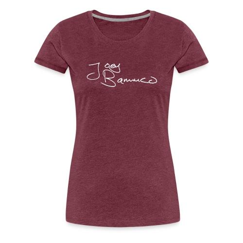 JoeyBamuco White Signature - Naisten premium t-paita