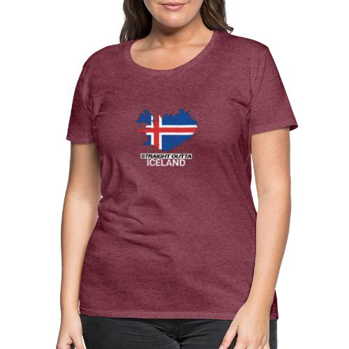 Straight Outta Iceland country map - Women's Premium T-Shirt