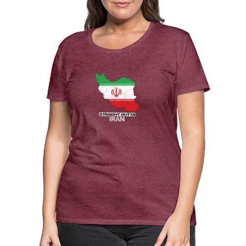 Straight Outta Iran country map & flag - Women's Premium T-Shirt