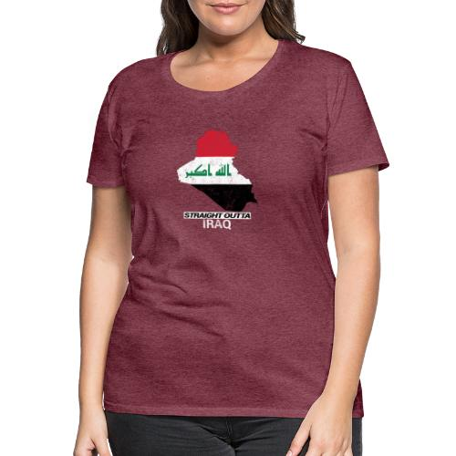 Straight Outta Iraq country map & flag - Women's Premium T-Shirt