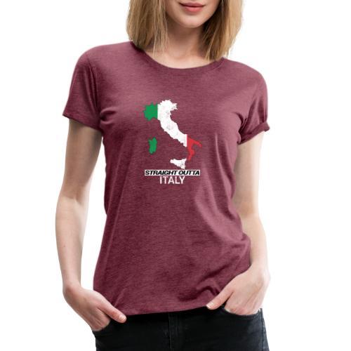 Straight Outta Italy (Italia) country map flag - Women's Premium T-Shirt