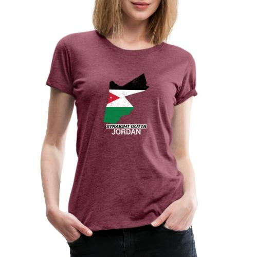 Straight Outta Jordan country map - Women's Premium T-Shirt