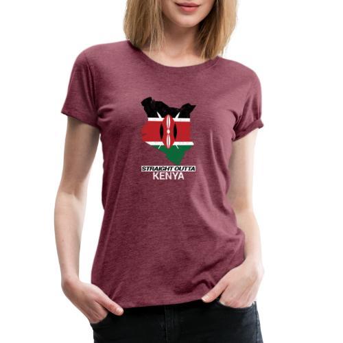 Straight Outta Kenya country map & flag - Women's Premium T-Shirt