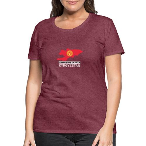 Straight Outta Kyrgyzstan country map - Women's Premium T-Shirt