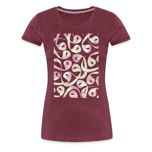 Floral Vav-Kissen - Women's Premium T-Shirt