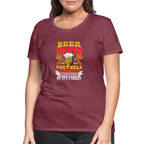 Bier, Bratwurst, deutsches... - Frauen Premium T-Shirt