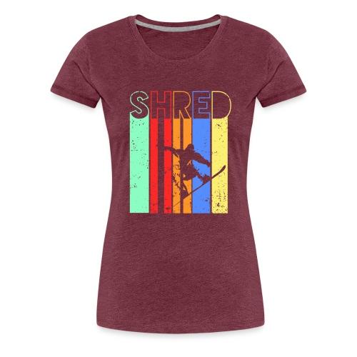 Snowboard Fahren Fetzt - Frauen Premium T-Shirt