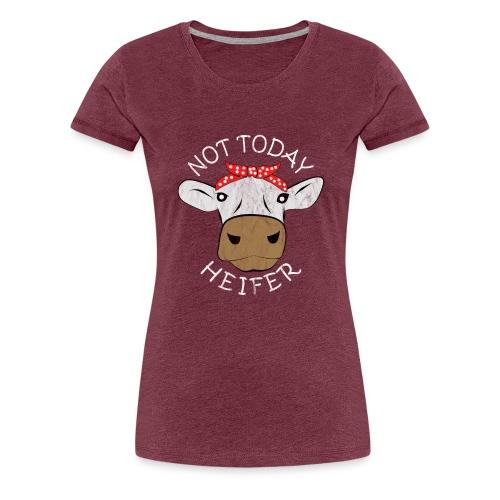 Kuh Schädel Kühe Kuhglocke Freundin - Frauen Premium T-Shirt