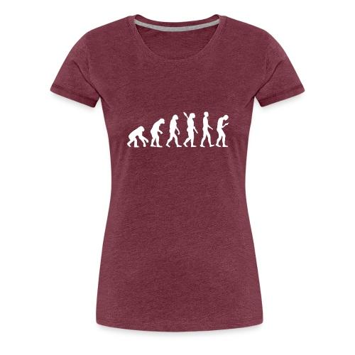Entwicklung des Smartphone Zombie / Smombie - Women's Premium T-Shirt