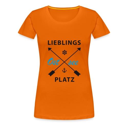 Lieblingsplatz Ostsee - Frauen Premium T-Shirt