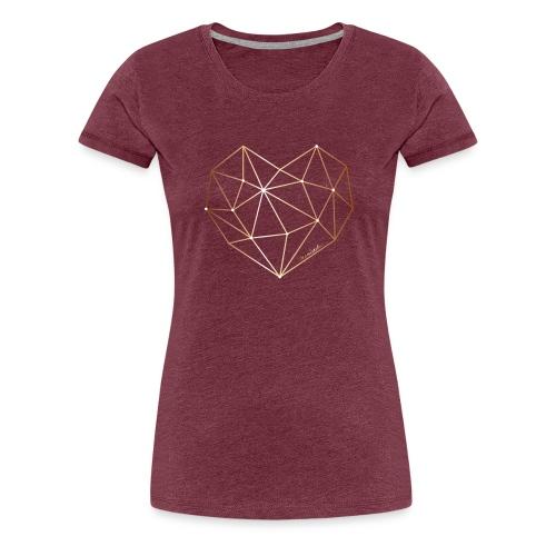 Herz in Diamant, Diamantherz - Frauen Premium T-Shirt