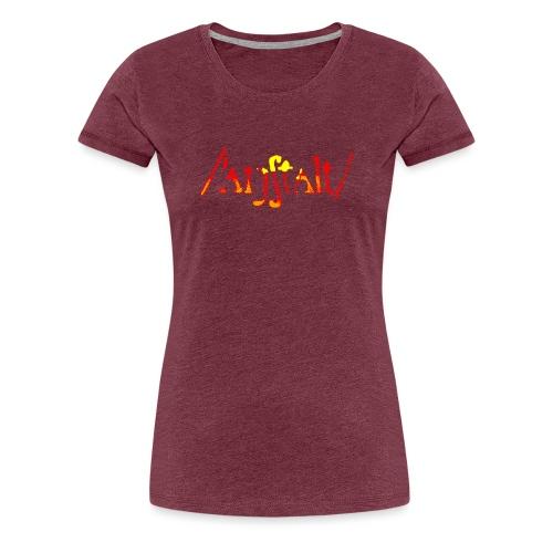 /'angstalt/ logo gerastert (flamme) - Frauen Premium T-Shirt