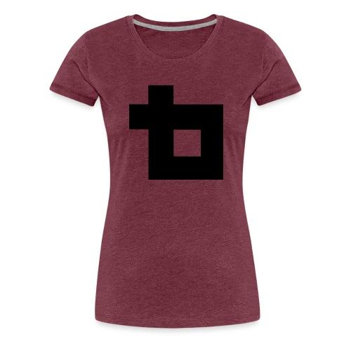 Lunatics logga,svart - Premium-T-shirt dam