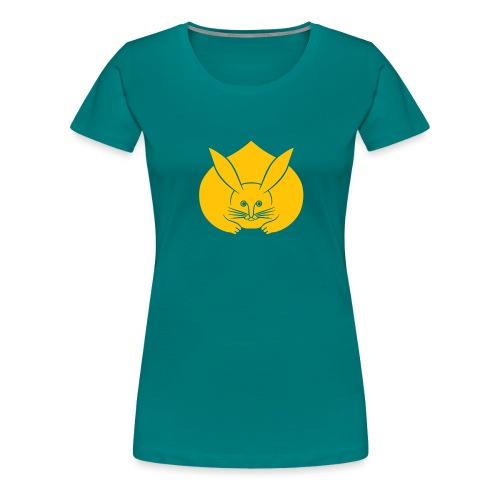 Usagi kamon japanese rabbit yellow - Women's Premium T-Shirt