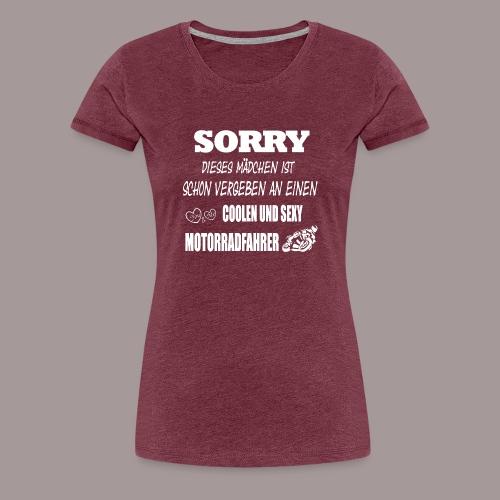 SORRY, VERGEBEN - Frauen Premium T-Shirt