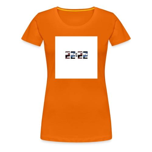 22:22 buttons - Vrouwen Premium T-shirt