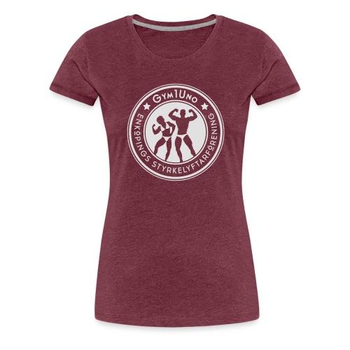 Gym1Uno_circle_Neg(ForDar - Premium-T-shirt dam