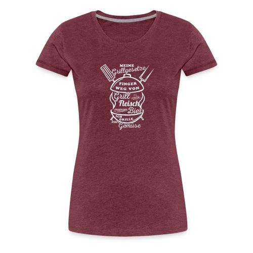Grillgesetze-01 - Frauen Premium T-Shirt