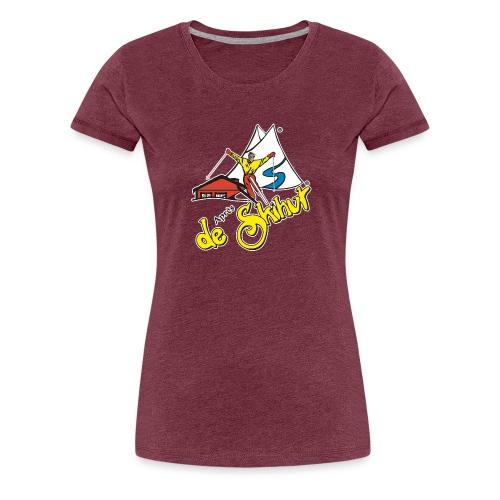 14787 fl tshirt logo skihut rotterdam - Vrouwen Premium T-shirt