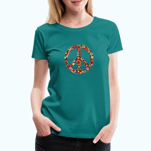 Flowers children - peace - Women's Premium T-Shirt