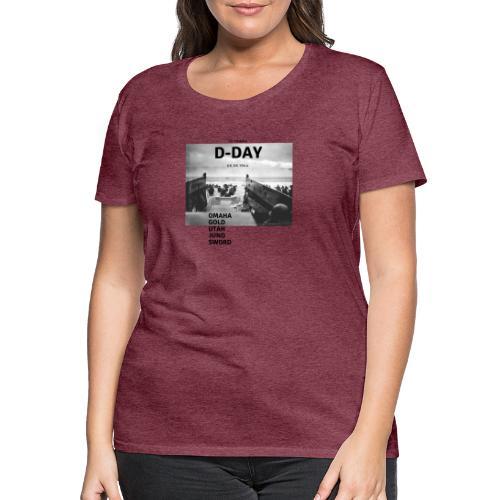 75 Jahre D-Day - Frauen Premium T-Shirt