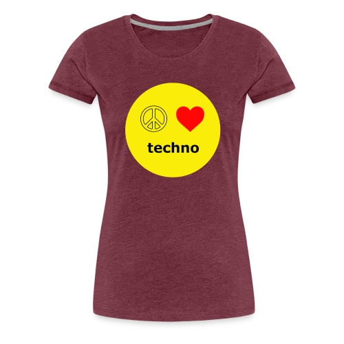 paz amor techno - Camiseta premium mujer