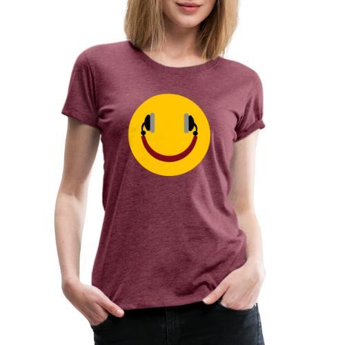Smiling headphone - Dame premium T-shirt