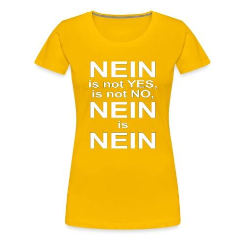 NEIN! - Women's Premium T-Shirt