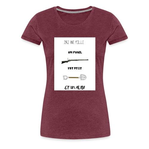 T-shirt imprimé J'ai une fille - T-shirt Premium Femme