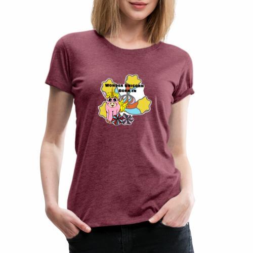 Merveilleuse Licorne née (pour fille) - T-shirt Premium Femme