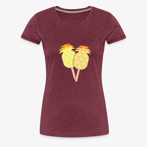 Pineapple Originals Ice Cream - Naisten premium t-paita