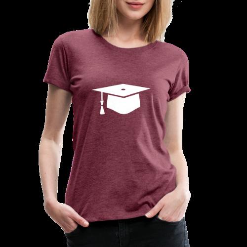 einfacher Doktorhut - Geschenk zur Doktorarbeit - Frauen Premium T-Shirt